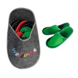 Chausson Géant Welcome avec 5 paires de pantoufles pour invités