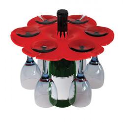 Bottle bouquet, astucieux porte-verres sur goulot