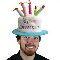 Chapeau anniversaire et ses bougies