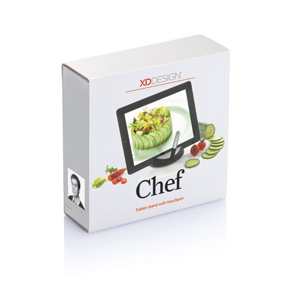 Support tablette tactile avec stylet chef 17 99 for Tablette tactile cuisine