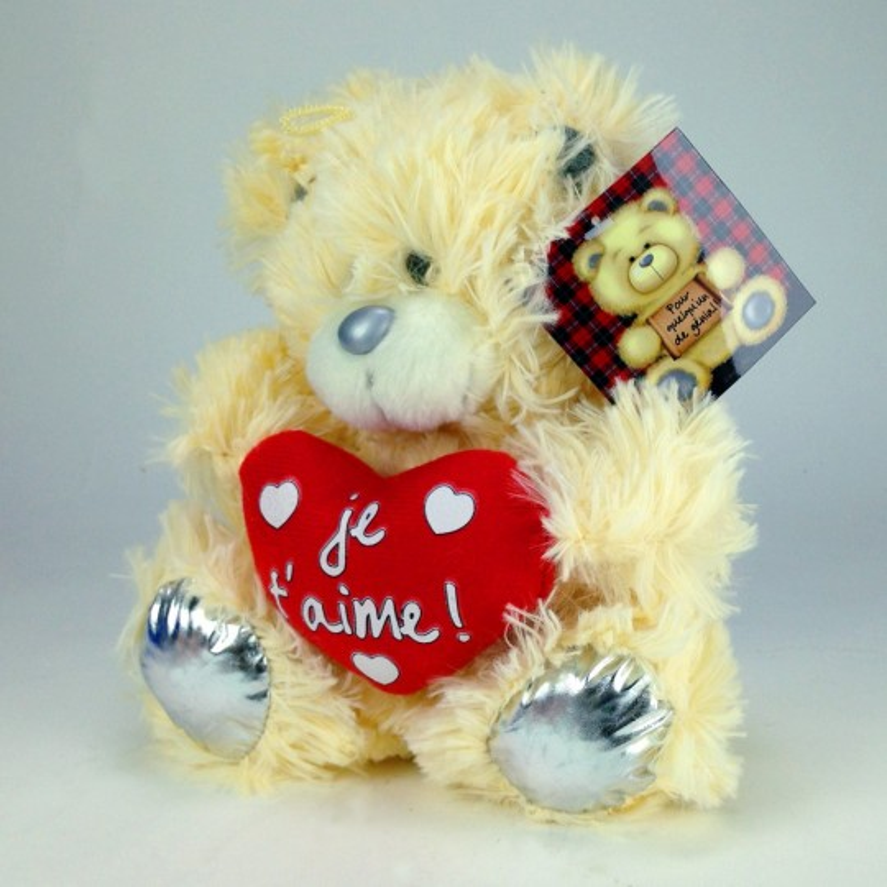 Peluche ourson coeur je t'aime