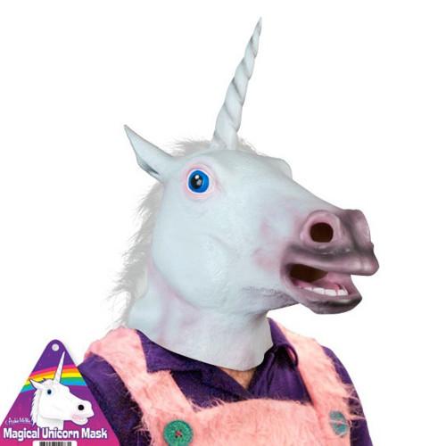 un déguisement tête de licorne