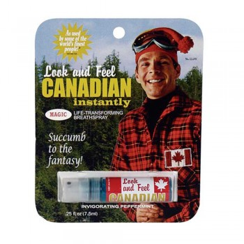 Spray haleine et look de Canadien