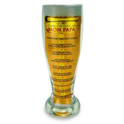 Verre à bière géant dix commandements Papa