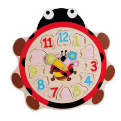 Horloge bois puzzle