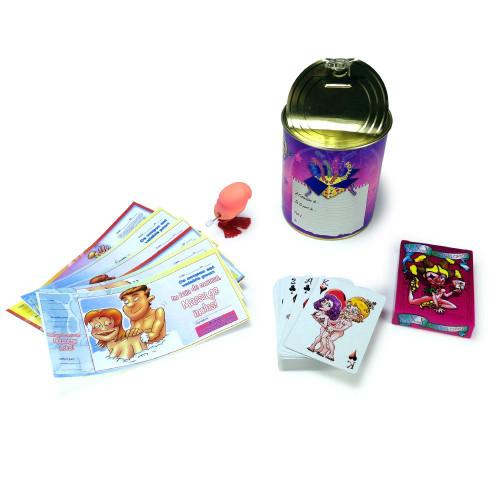 une boite avec des cadeaux originaux pour EVJF