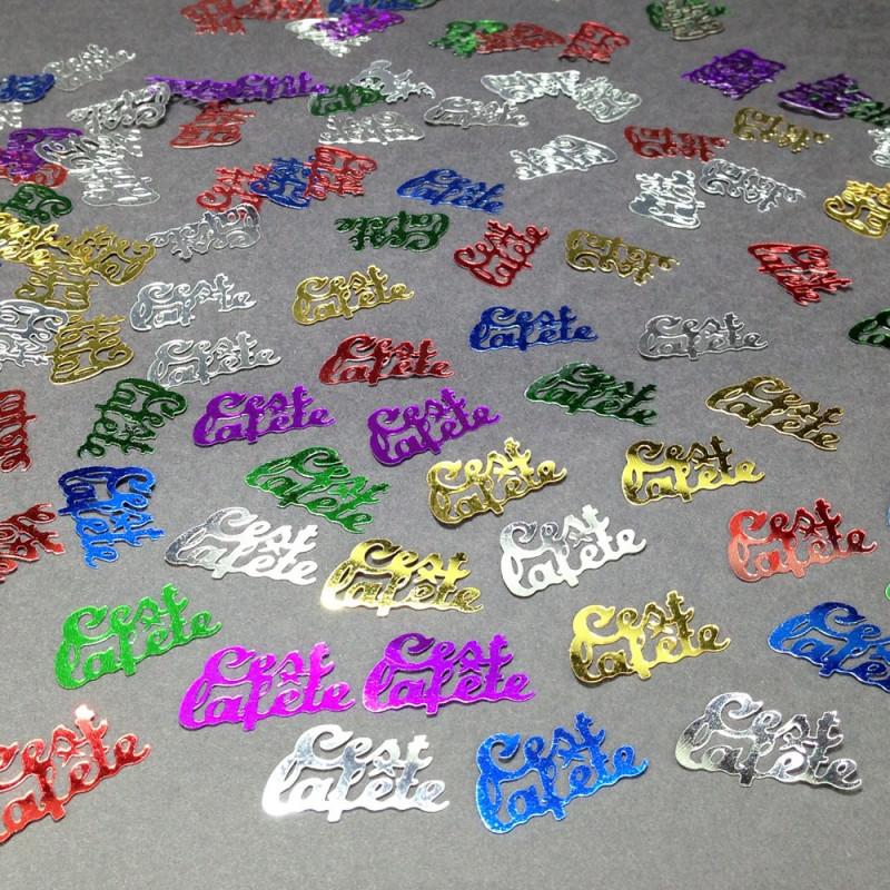 Confettis de table C'est la fête