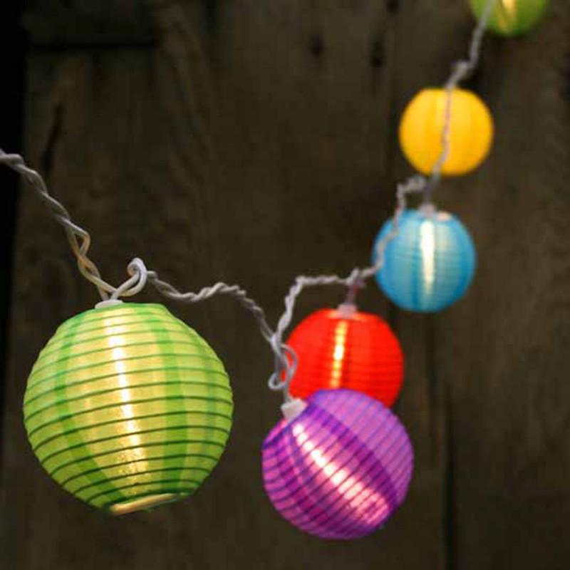 Guirlande de lampions festifs leds
