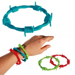 Bracelet fil de fer barbelé
