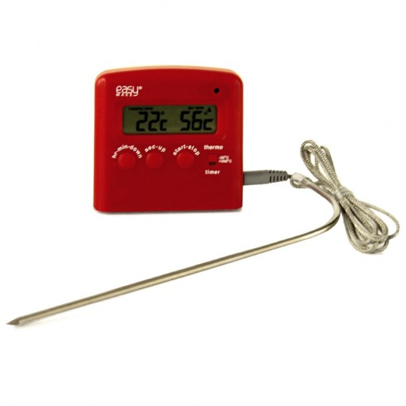 Thermomètre de cuisson à sonde avec minuteur
