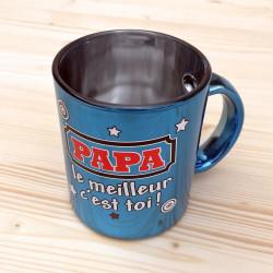 Mug métallisé PAPA