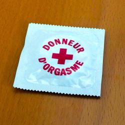 Préservatif humoristique Donneur d'orgasme