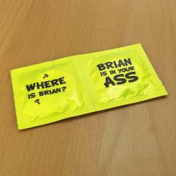 Préservatifs humoristiques Where is Brian?