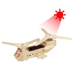 Hélicoptère solaire puzzle 3D en bois