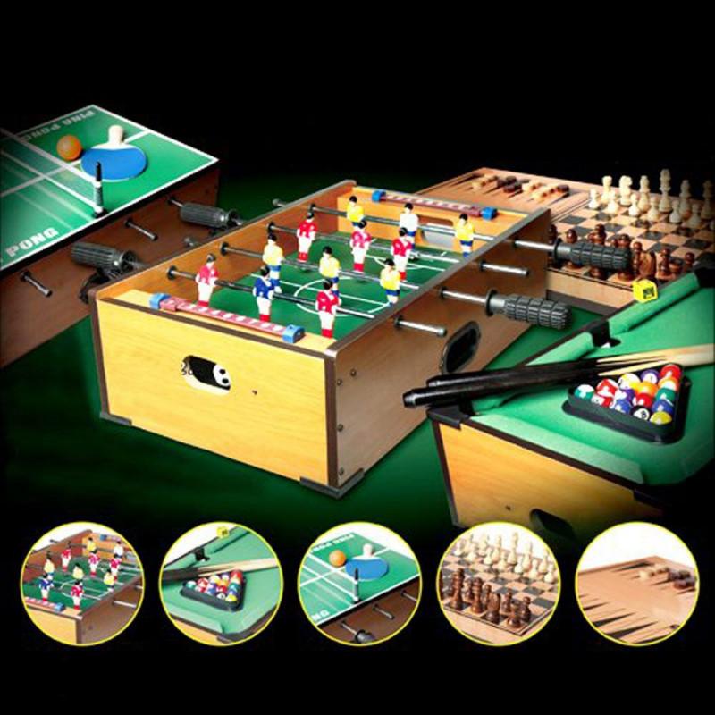 une table de jeux 5 en 1