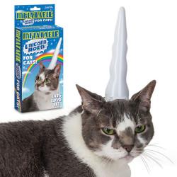 Corne de licorne gonflable pour chat