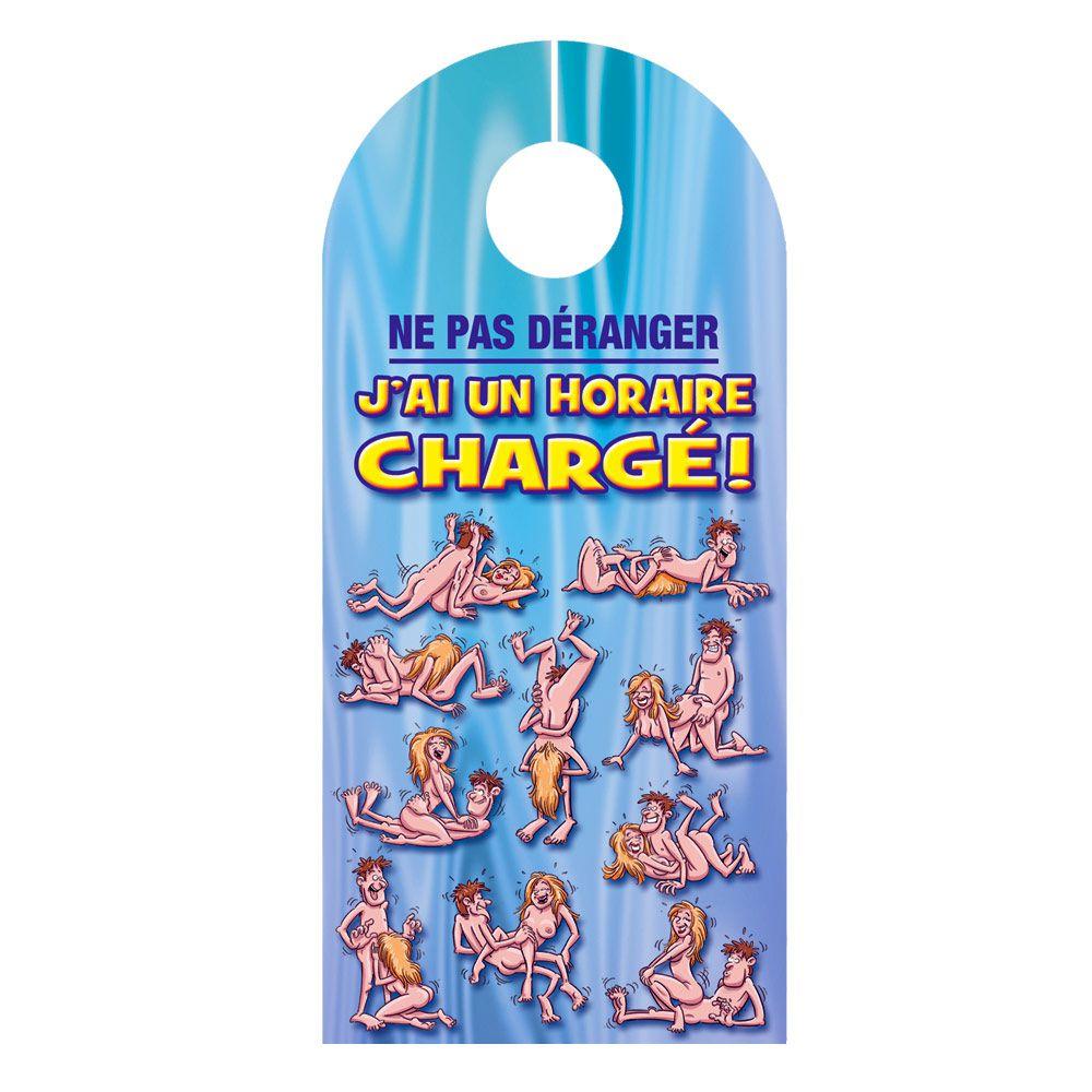 Préférence Pancarte de porte J'ai un horaire chargé à 3,95 € MA14