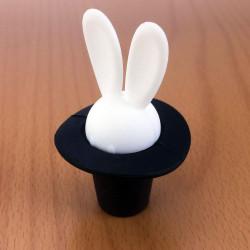 Bouchon de bouteille lapin magicien