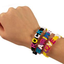 Bracelet à message personnalisable