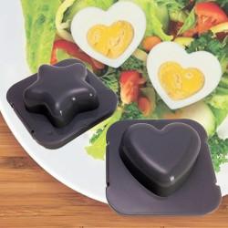 Moules à œufs cœur et étoile
