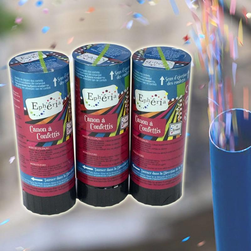 3 mini canons à confettis