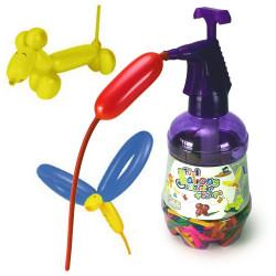 Kit ballons à modeler + pompe magique