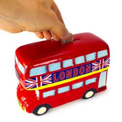 Tirelire bus anglais