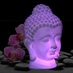 Tête de bouddha lumineuse