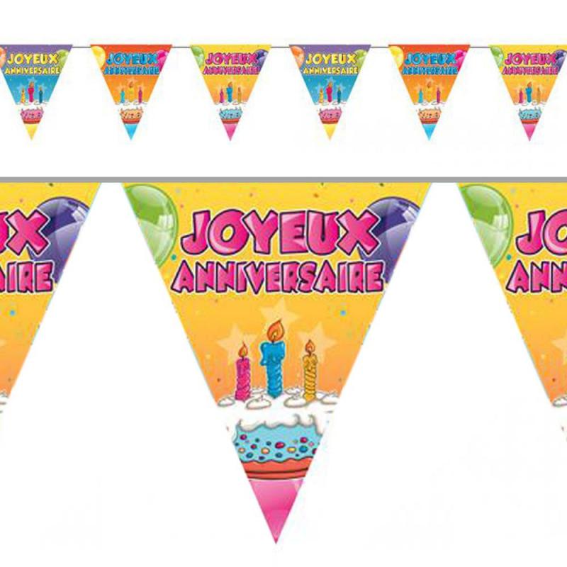 Guirlande fanions Joyeux anniversaire