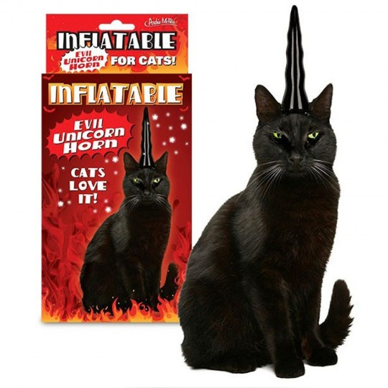Corne de licorne pour chat noir