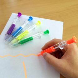Seringue stylo et surligneur