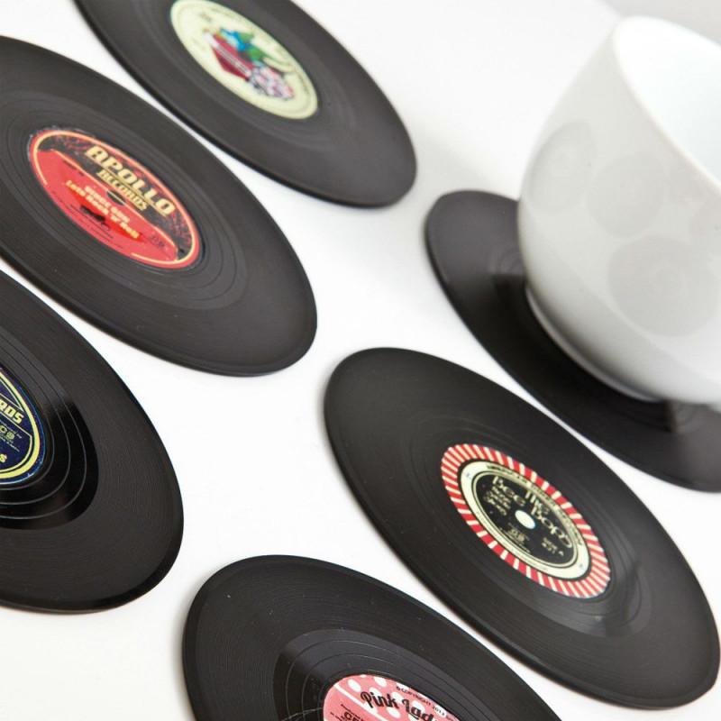Set de 6 Dessous de verre vinyl Rockabilly