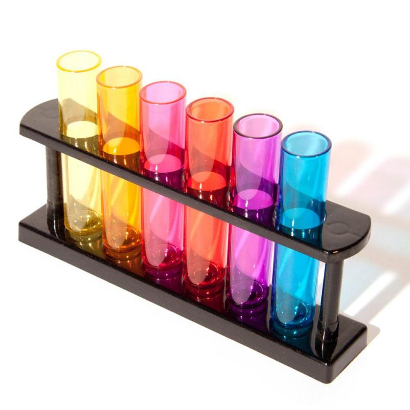 6 verres à liqueur shot tubes à essai éprouvettes