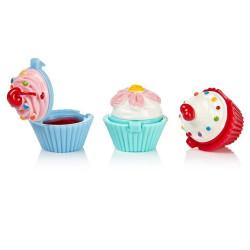 Baume à lèvres trio cupcakes