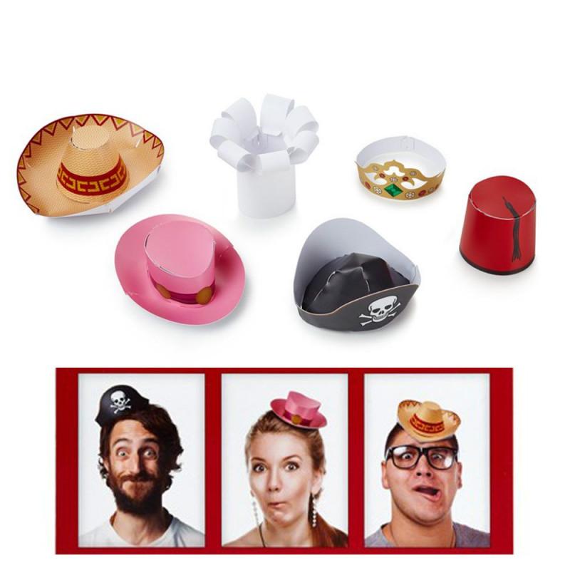 6 mini chapeaux de fêtes