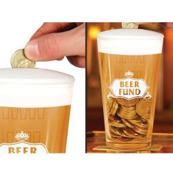 Tirelire verre de bière