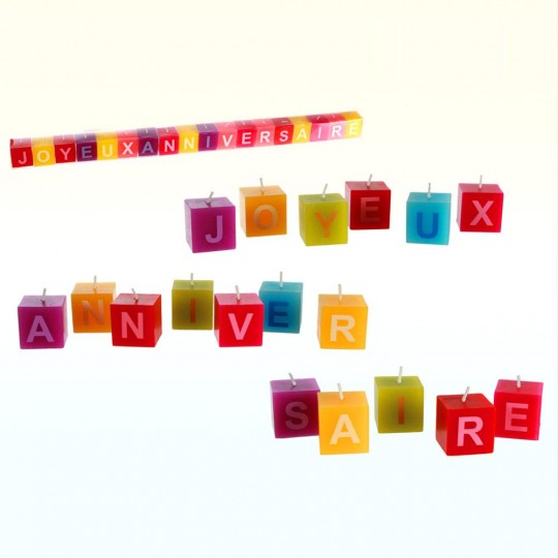 Bougie lettres Bon Anniversaire