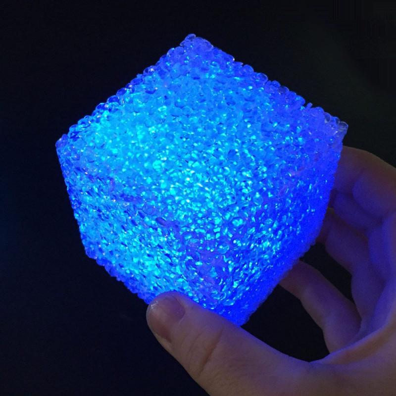 Cube led cristal 7 cm