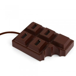 Hub usb tablette de chocolat